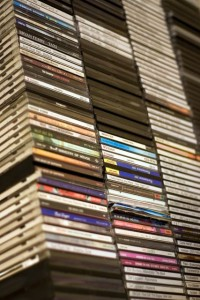 Large stack of cds.