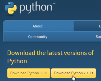 download version 2 of Python