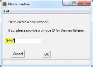 ID for new Listener