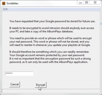 Google credentials encrypted