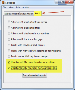 unactioned LFM notifications audit reports