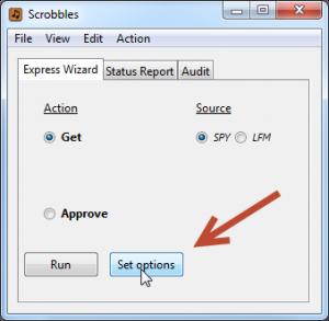 Set Options button
