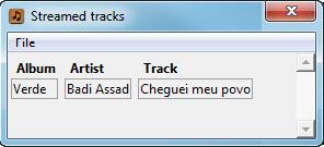 Unmatched streamed track details
