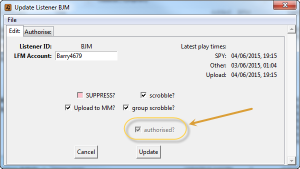 Authorise AlbumPlays to scrobble to your account