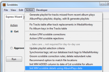 Menu to copy scrobble details to MM